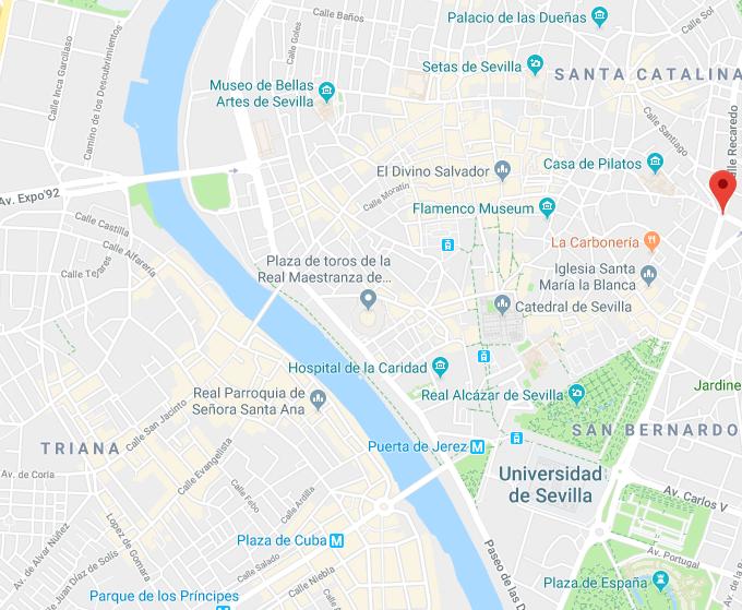 que ver en Sevilla. MAPA DE SEVILLA