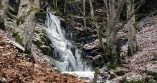 Primera cascada. Ruta de las cascadas