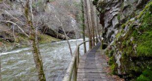 Pasarelas por las hoces del río Esva