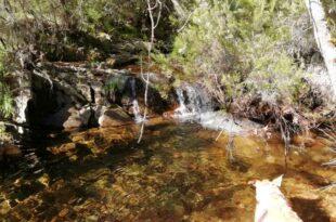 saltos de agua en el Arroyo Gimena